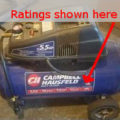 air compressor ratings
