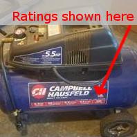 air compressor ratings