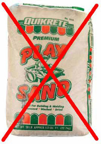 Photo of play sand.